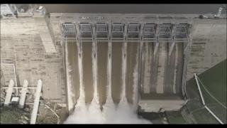 DJI Phantom 4 PRO 4k! - Folsom Dam - Massive Water flow - 5 Bays Open!!