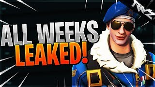 ALL SEASON 5 WEEKLY CHALLENGES LEAKED! WEEK 5-10 CHALLENGES LEAKED! (Fortnite Battle Royale)