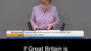 "Angela Merkel Brexit: ""They Are Under An Illusion"" English Subtitles"