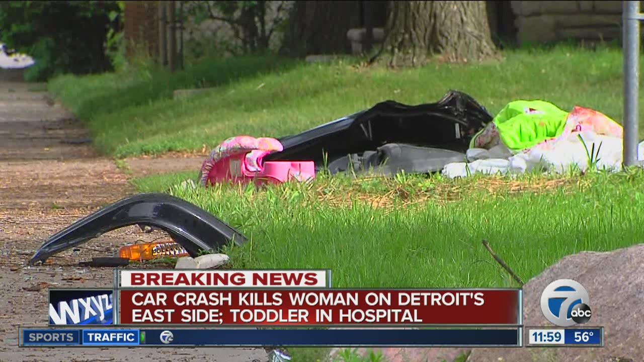 Woman killed in deadly car crash on Detroit's East Side