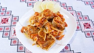 Маринованная скумбрия рецепт с морковью Как мариновать скумбрию Скумбрія маринована Маринад для рыбы