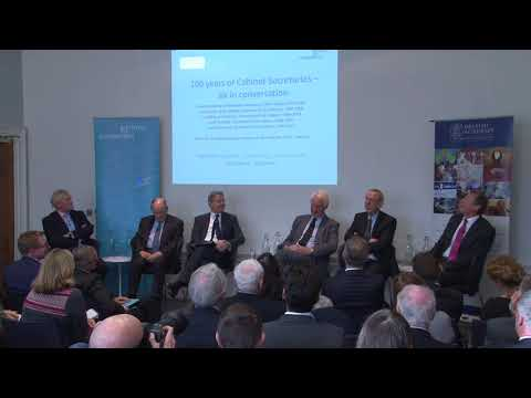 100 Years Of Cabinet Secretaries: Six In Conversation - IfG Event On 30 November 2016