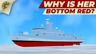Why are ships painted red below the waterline?