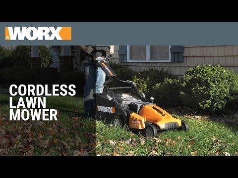 "WORX Intellicut 14"" Cordless Lawn Mower"
