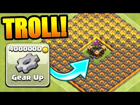 ULTIMATE GEAR TROLL BASE!! - Clash Of Clans - NEW