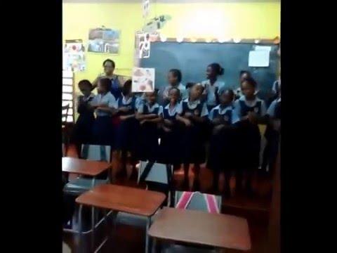 My Girls at Clapham School  singing, Roll Jordon Roll