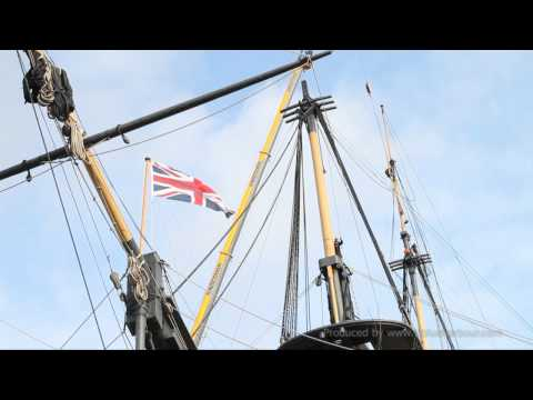 HMS Victory Removal of Top Mast - 16th Aug 2011