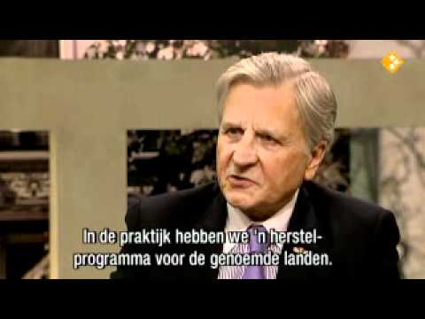 Jean-Claude Trichet President ECB Asked About restructuring Debt, I Smell Moral Hazard
