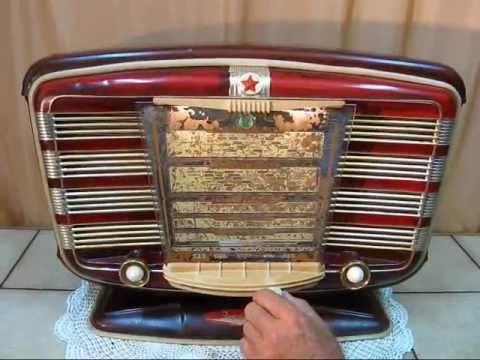 "Old tube radio: ""ZWEZDA 54"" , Soviet Union, 1954."