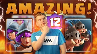 12 WINS! 3 Musketeers Royal Hogs Cycle Deck LIVE Grand Challenge Gameplay - Clash Royale