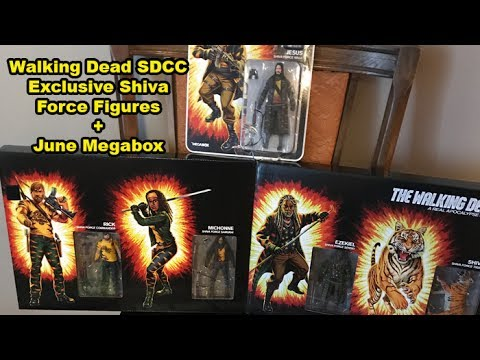 Walking Dead Shiva Force SDCC Exclusive and Skybound Megabox June 2017