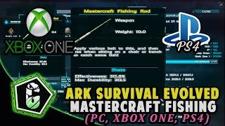 Ark xb1 primitive pvp s5 ep3 mastercraft fishing rod for Fishing xbox one