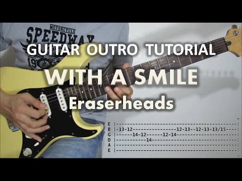 With A Smile - Eraserheads (Guitar Outro Tutorial with tabs)
