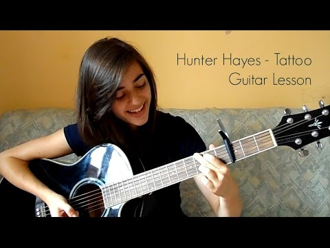 Hunter Hayes - Tattoo. Acoustic Guitar Tutorial.
