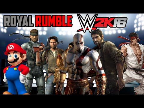 PERSONAJES de VIDEOJUEGOS En la WWE ! ROYAL RUMBLE ! - WWE2K16 - ElChurches