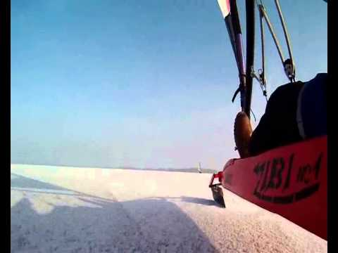 Landsailing on ice // Łabusz // Winter 2013