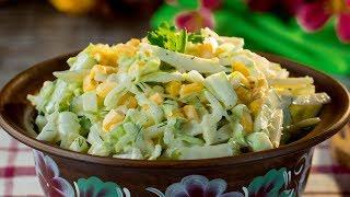 Салат из капусты и огурцов - два простых, быстрых и безумно вкусных салата! | Appetitno.TV