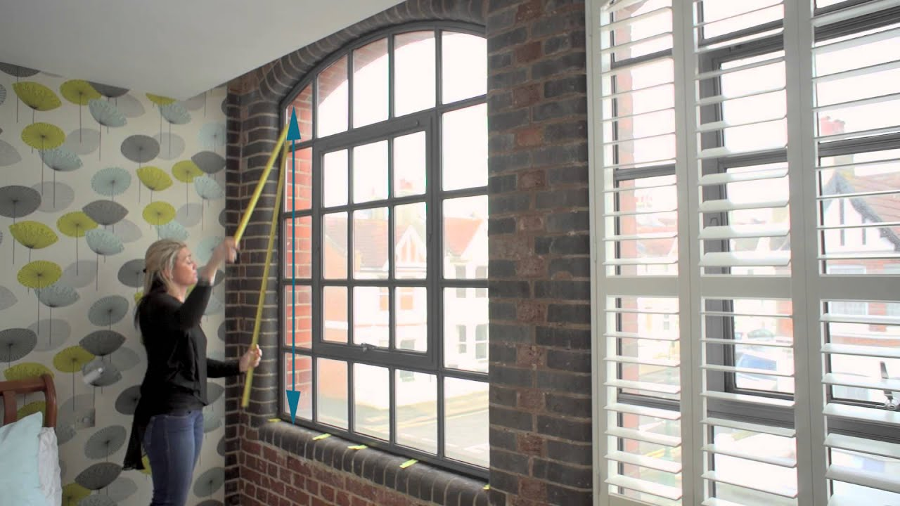 How to measure an arched window for shutters - YouTube