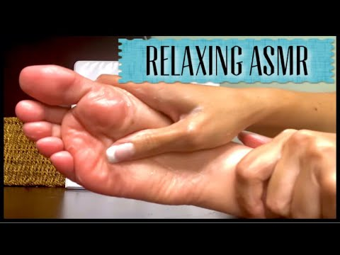 ASMR Foot Sole Tapping and Super Relaxing Lotion Massage 💦🦶