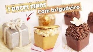 3 DOCES FINOS COM CHOCOLATE - UTILIZANDO MINI CAIXA DE CHOCOLATE - Tiago Mauro
