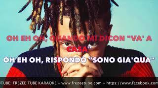 Ghali - Cara Italia - Karaoke con testo