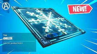 "NEW ""CHILLER"" FREEZE TRAP Gameplay! (Fortnite Battle Royale Content Update V6.01)"