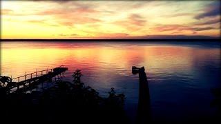 """Гостевой дом """"Райское Гнёздышко"""" после заката солнца."""