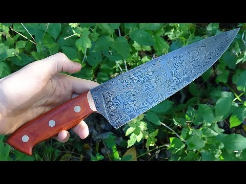 Knife making - damascus kitchen knife