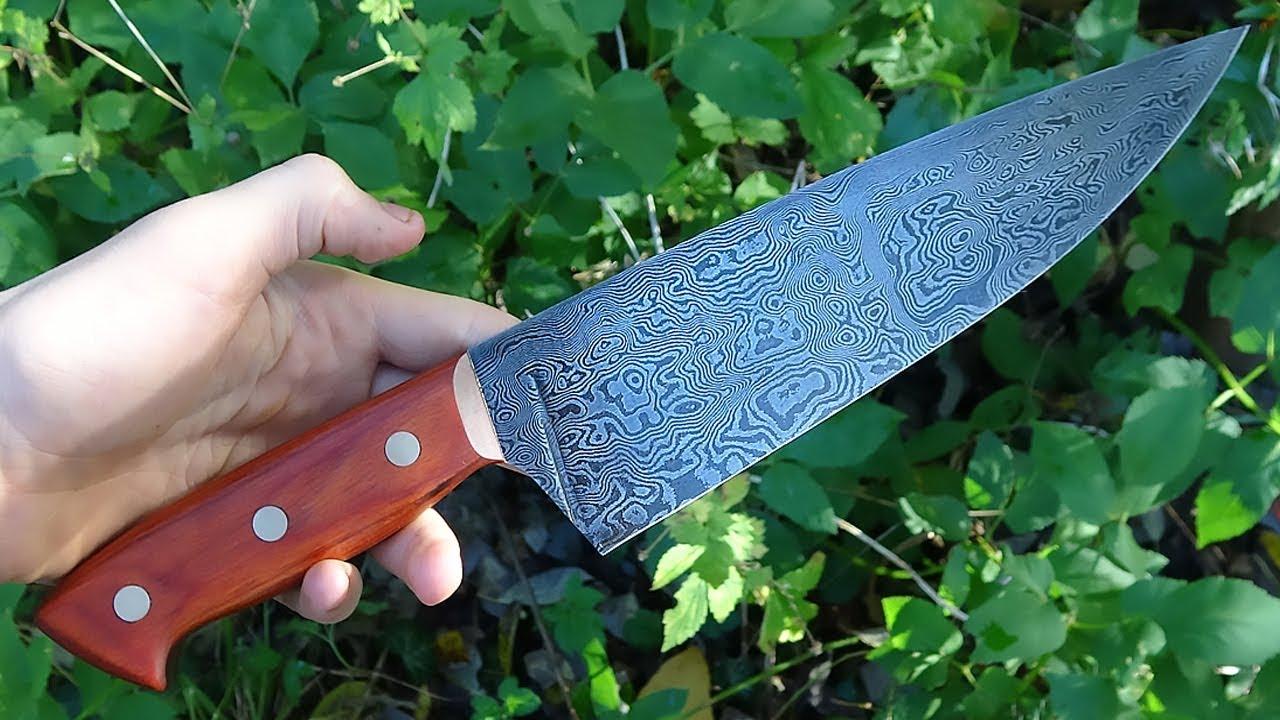 Knife making - Damascus kitchen knife - YouTube