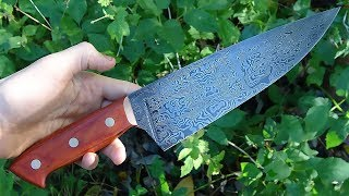 Knife making - damascus kitchen knife