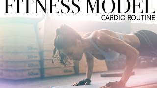 my fat burning gym workout fitness model cardio routine