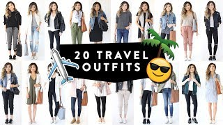 20 TRAVEL OUTFIT IDEAS | Casual Travel Fashion Lookbook | Spring Summer Airport | Miss Louie