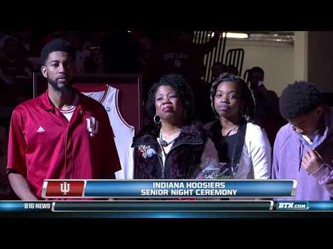 Indiana Senior Night Intros and Tom Crean Speech