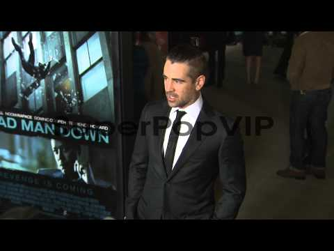 Colin Farrell at Dead Man Down Los Angeles Premiere 2/26/...