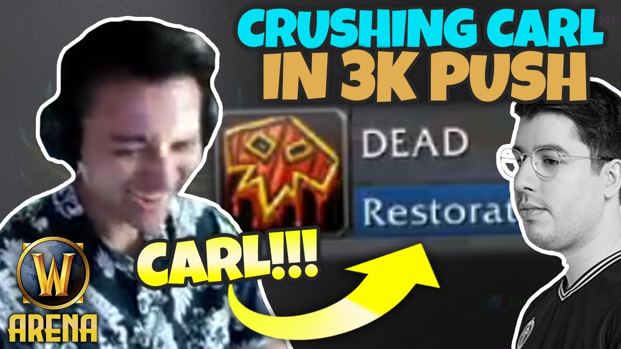 DOMINATING Carl in Under a Minute w/ Xaryu and Born - 3k 3s Push Full Gameplay | Pikaboo | WoW Arena
