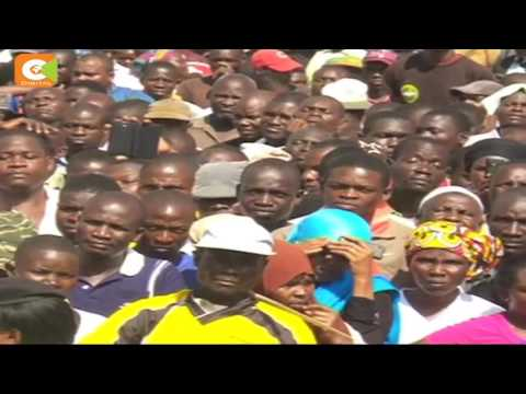 Protestors attempt to block Odinga motorcade in Mumias