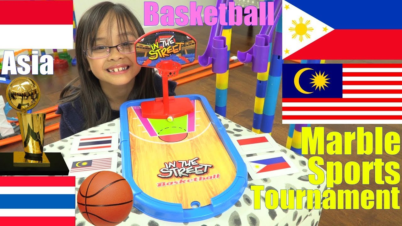 Marble Racing Sports: Marble Racing Basketball Game, Marble Racing Olympics Race #48. ASIA