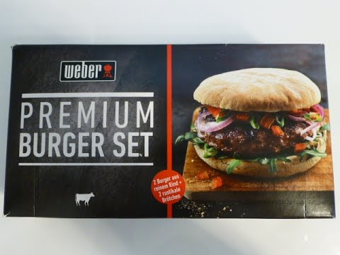 weber premium burger set grillen youtube. Black Bedroom Furniture Sets. Home Design Ideas