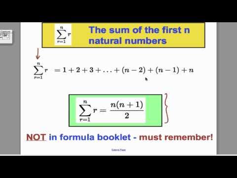 Series & Sigma notation (1) FP1 Edexcel A-Level