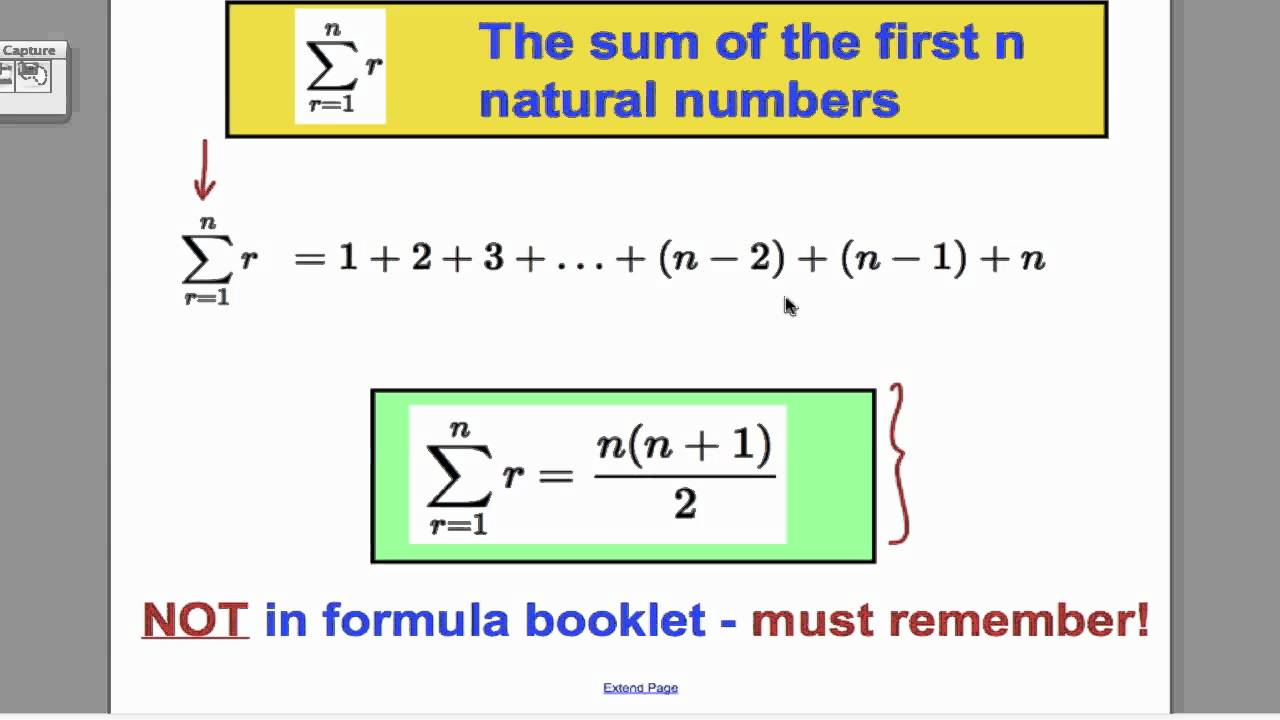 Series Sigma Notation 1 Fp1 Edexcel A Level Youtube