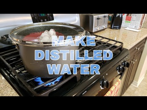 HOW TO Make DISTILLED WATER - At Home EASY!!