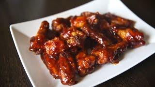 Куриные крылышки в соусе BBQ с медом