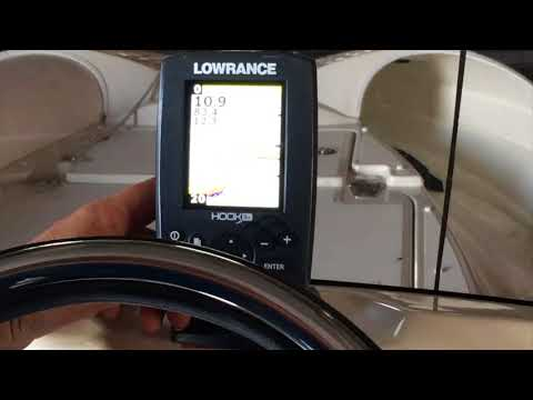 Lowrance Depth Finder with Mike G