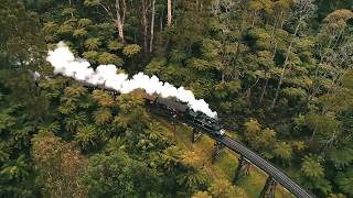 Puffing Billy from above