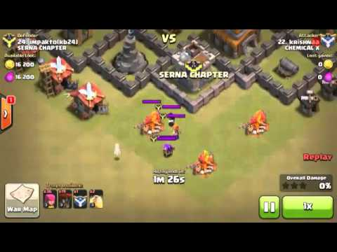 How to Kill VALKYRIE in Clan Castle For TH5 And below