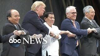 Trump meets with Philippine President Duterte