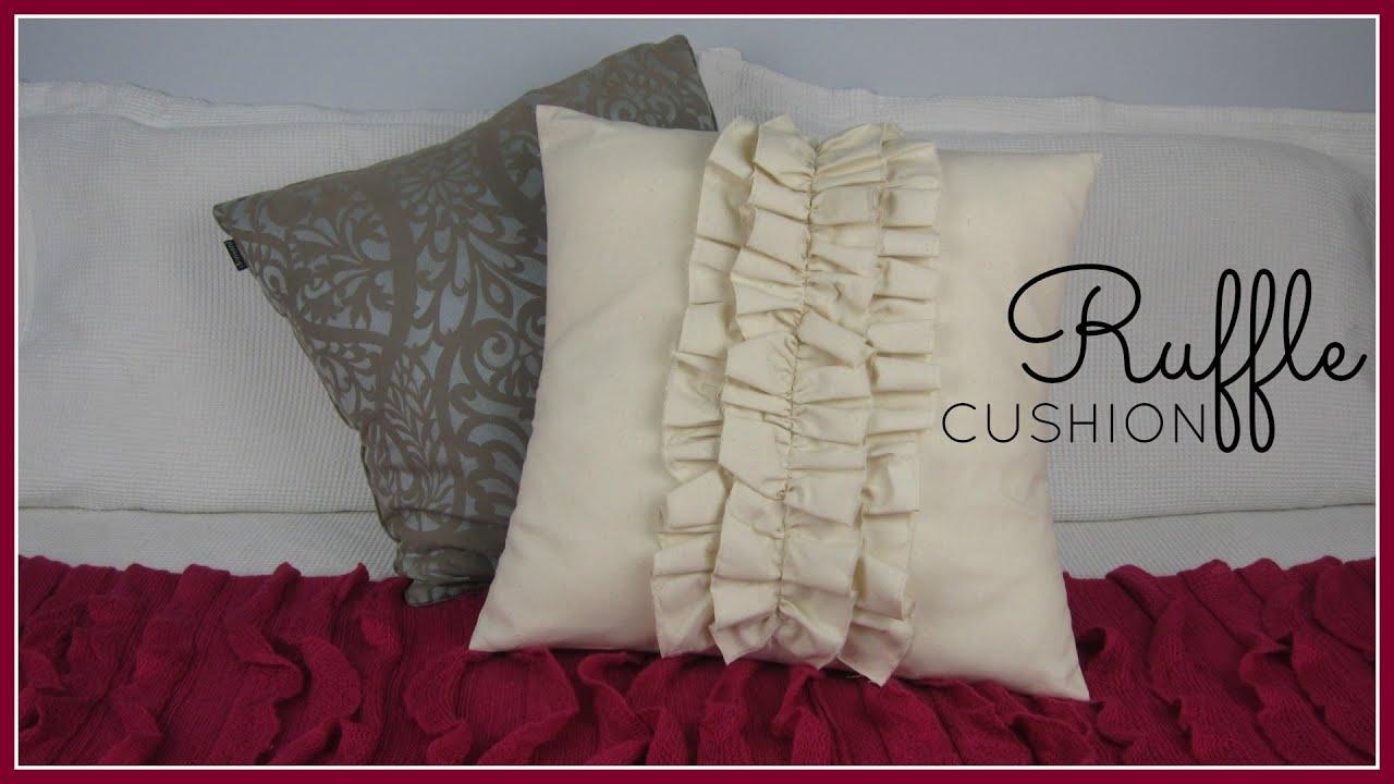 StepbyStep Sewing DIY Ruffle Cushion Cover YouTube