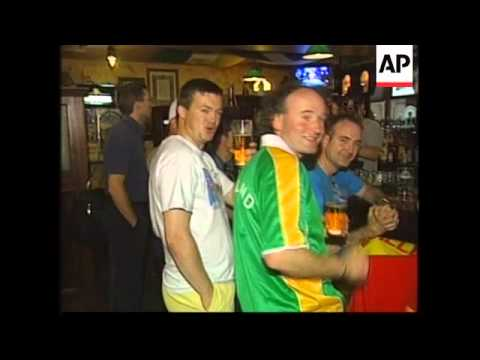 Irish, French and English fans arrive for World Cup
