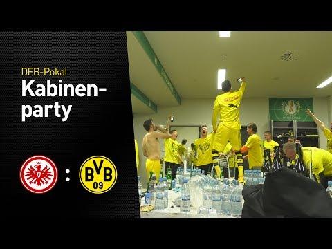 BVB-Kabinenparty nach Pokalsieg | Eintracht Frankfurt - BVB 1:2