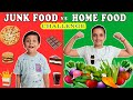 JUNK FOOD vs HOME FOOD Challenge | #Funny Healthy Eating Moral Story for kids | Aayu and Pihu Show